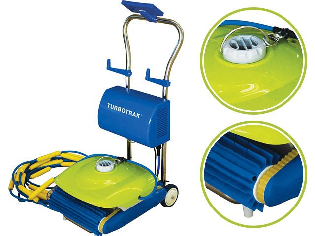 robot piscine lectrique kokido turbotrak avec chariot sur. Black Bedroom Furniture Sets. Home Design Ideas