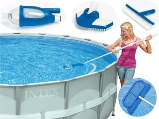 kit d 39 entretien avec aspirateur intex vac piscine hors sol sur. Black Bedroom Furniture Sets. Home Design Ideas