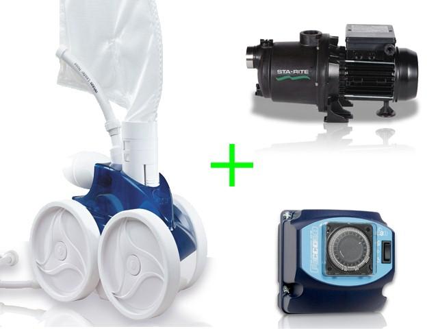 Pack robot polaris 380 avec surpresseur 1cv mono et for Robot piscine polaris