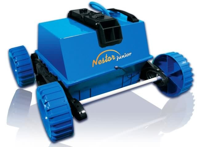 Robot piscine mareva nestor junior aspiration de 18m3 h for Robot piscine par aspiration