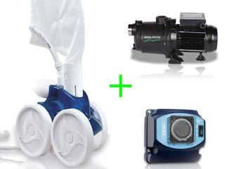 Pack robot hydraulique Polaris 380 avec surpresseur 1.5cv mono et coffret
