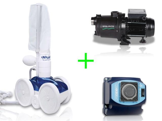 Pack robot polaris 280 avec surpresseur 1cv tri et coffret for Aspirateur piscine polaris 165