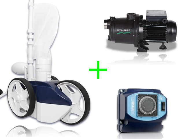 Pack robot procopi jetvac avec surpresseur 1cv tri et for Surpresseur robot piscine