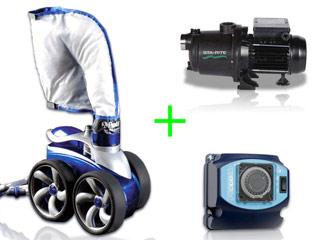 Pack robot hydraulique Polaris 3900S avec surpresseur 1.5cv tri et coffret