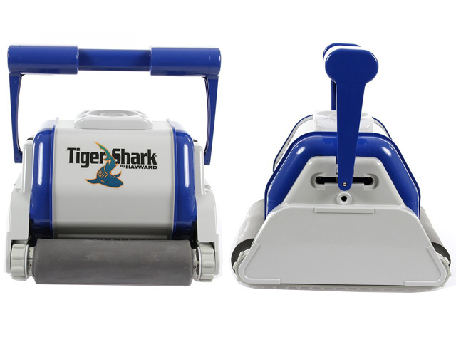 Robot piscine hayward tiger shark avec brosses mousse for Avis robot piscine tiger shark