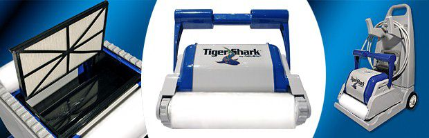 Robot piscine electrique Hayward TIGER SHARK brosses mousse - Le robot nettoyeur de piscine électrique Hayward TIGER SHARK brosses mousse