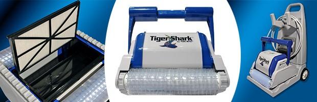 Robot piscine electrique Hayward TIGER SHARK brosses picots - Le robot nettoyeur de piscine électrique Hayward TIGER SHARK brosses picots