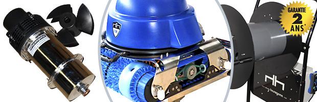 Robot piscine publique CHRONO ECO 510 avec radiocommande et chariot - Robot piscine électrique professionnel Hexagone CHRONO ECO 510 innovation et évolution