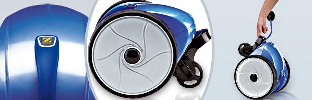 Robot piscine electrique Zodiac VORTEX 1 bac recuperateur ergonomique - Le robot nettoyeur de piscine Zodiac VORTEX 1
