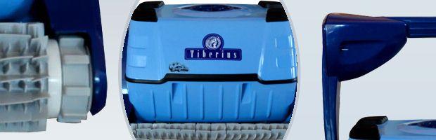 Robot piscine electrique Dolphin TIBERIUS avec chariot - Le robot nettoyeur de piscine Dolphin TIBERIUS