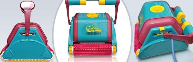 Robot piscine electrique Dolphin DIAGNOSTIC 2001 avec chariot - Le robot nettoyeur de piscine Dolphin DIAGNOSTIC 2001
