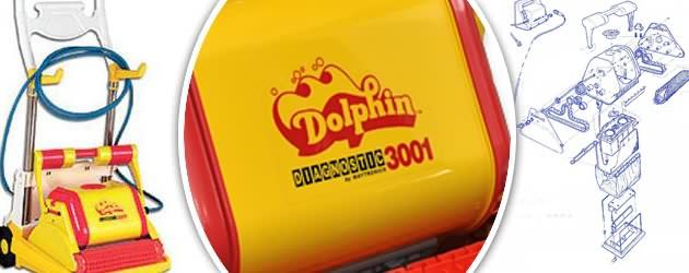 Robot piscine electrique Dolphin DIAGNOSTIC 3001 avec chariot - Robot Dolphin DIAGNOSTIC 3001, sécurité du travail bien fait