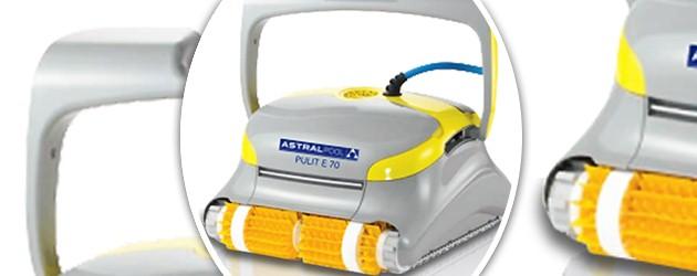 Robot de piscine electrique Dolphin PULIT E70 avec chariot de transport - Le robot nettoyeur de piscine électrique Dolphin PULIT E70