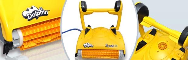 Robot piscine electrique Dolphin SWASH CL avec chariot - Le robot nettoyeur de piscine électrique Dolphin SWASH CL