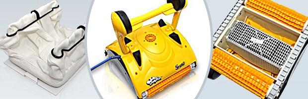 Robot piscine electrique Dolphin SWASH TC avec chariot et telecommande - Robot nettoyeur électrique Dolphin SWASH TC, innovation et efficacité