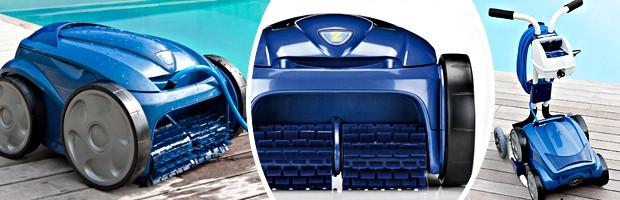 Robot piscine electrique Zodiac VORTEX 4 avec chariot et telecommande - Le robot nettoyeur de piscine Zodiac VORTEX 4