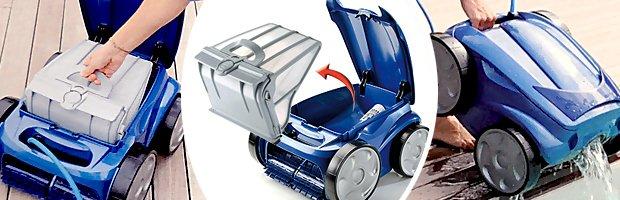 Robot piscine electrique Zodiac VORTEX 4 avec chariot et telecommande - Avantages du nettoyeur VORTEX 4 pour piscine