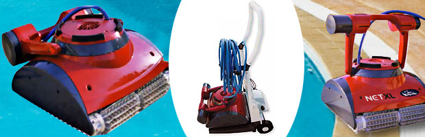 Robot piscine electrique Dolphin NET XL avec chariot et telecommande - Le robot piscine automatique Dolphin NET XL
