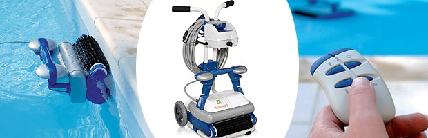 Robot piscine Zodiac SWEEPY FREE avec telecommande et chariot - Le robot piscine automatique Zodiac SWEEPY FREE avec télécommande