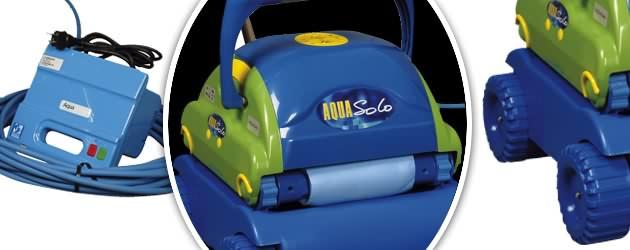 Robot piscine electrique Aquaproducts AQUA SOLO avec chariot - Robot nettoyeur électrique Aquaproducts AQUA SOLO, innovant et robuste