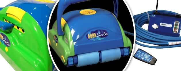 Robot piscine electrique Aquaproducts AQUA SOLO VERTIGO avec telecommande - Le robot nettoyeur de piscine électrique Aquaproducts AQUA SOLO VERTIGO