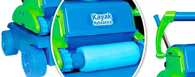 Robot piscine electrique Gre KAYAK ADVANCE avec chariot - Le robot nettoyeur de piscine électrique GRE KAYAK ADVANCE
