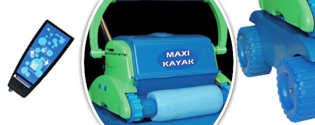 Robot piscine electrique Gre MAXI KAYAK avec chariot - Le robot nettoyeur de piscine électrique GRE MAXI KAYAK