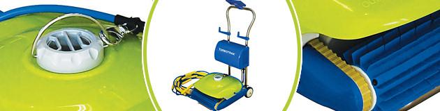 Robot piscine electrique Kokido TURBOTRAK avec chariot - Robot TURBOTRAK Technologie novatrice