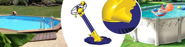 Robot piscine hydraulique Mareva ZIP a aspiration - Nettoyeur de piscine hydraulique Mareva ZIP