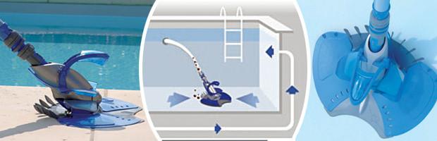 Robot piscine hydraulique Zodiac X7 QUATTRO avec piege a feuilles - Robot Zodiac X7 Quattro un fonctionnement aisé