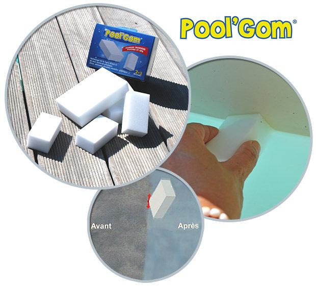 Boite de 5 gommes magiques anti-tache POOL'GOM pour piscine et spa - La gomme magique POOL'GOM pour piscine