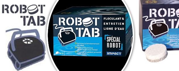 Optimisateur Impact ROBOT TAB pour robots piscines - Caractéristiques du traitement ROBOT TAB