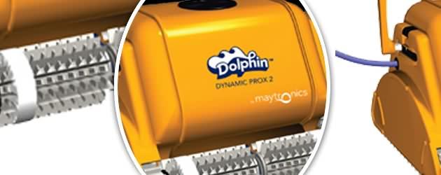 Robot piscine publique Dolphin DYNAMIC PRO X 2 avec chariot et telecommande - Le robot nettoyeur de piscine Dolphin DYNAMIC PRO X 2
