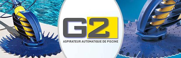 Robot piscine hydraulique Zodiac G2 a aspiration - Nettoyeur hydraulique Zodiac G2 à aspiration