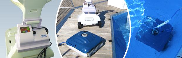 Robot piscine electrique Cristaline SAFYR avec chariot - Le robot nettoyeur de piscine électrique SAFYR Cristaline