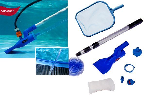 Kit aspirateur manuel piscine hors-sol et spa Gre SUPA VAC PRO avec epuisette - Caractéristiques de l'aspirateur piscine et spa SUPA VAC PRO