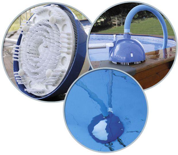 Aspirateur manuel piscine hors-sol Gre ROLLER VAC avec brosses rotatives - ROLLER VAC l'aspirateur pour piscine hors-sol