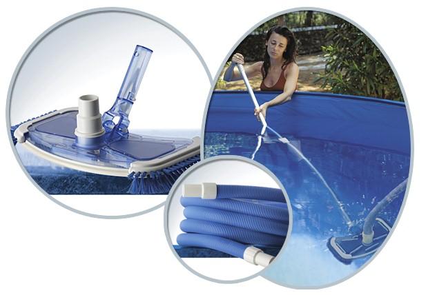 Kit aspirateur gr sweep vac avec manche alu et tuyau pour for Aspirateur q vac piscine