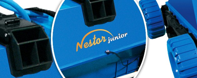 Robot piscine electrique Mareva NESTOR JUNIOR aspiration de 18m3/h - Le robot nettoyeur de piscine électrique Mareva NESTOR JUNIOR, l'efficacité et la simplicité