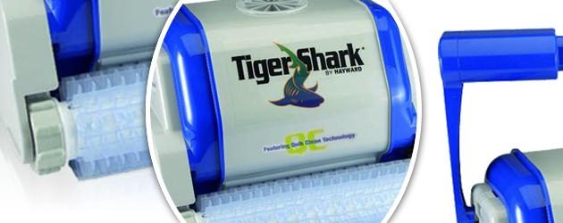 Robot piscine electrique Hayward TIGER SHARK QC brosses picots - Le robot nettoyeur de piscine électrique Hayward TIGER SHARK QC brosses picots