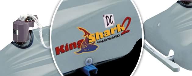 Robot piscine electrique professionnel Hayward KING SHARK 2 DC avec detecteur - Le robot nettoyeur de piscine électrique KING SHARK 2 DC
