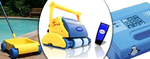 Robot piscine electrique Typhoon PLUS avec chariot - Le robot nettoyeur de piscine électrique TYPHOON PLUS