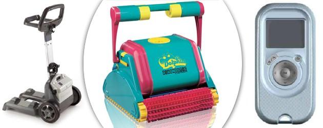 Robot piscine electrique Dolphin DIAGNOSTIC 2001 PLUS avec telecommande - Nettoyeur de piscine Dolphin DIAGNOSTIC 2001 PLUS