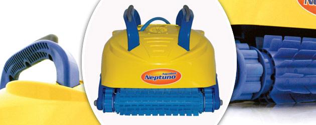Robot piscine electrique NEPTUNO brosses PVC - Aquabot NEPTUNO le dernier né d'une lignée renommée