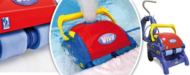 Robot piscine electrique Aquabot VIVA brosses doublees PVA avec telecommande - Robot piscine Aquabot VIVA Rapidité et robustesse