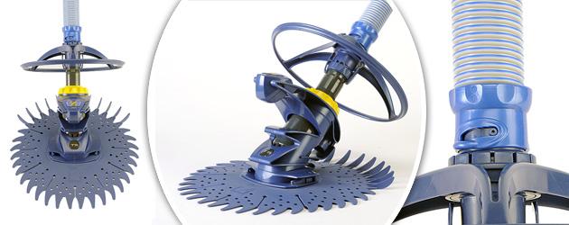 Robot piscine hydraulique Zodiac T3 avec deflecteur - Zodiac T3 simplicité et robustesse