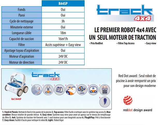 Robot piscine electrique Gre TRACK 4X4 pour piscine jusqu'a 80m² - Gré TRACK 4X4 Faites un bon dans le futur