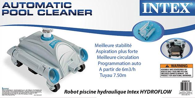 Robot piscine hydraulique Intex HYDROFLOW a aspiration - Robot piscine hydraulique Intex HYDROFLOW Innovation et simplicité