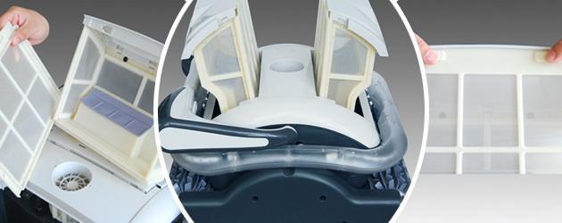 Robot piscine electrique Bestway RAPTOR LED avec chariot - Robot piscine Bestway RAPTOR Rapide, précis, fiable et fun
