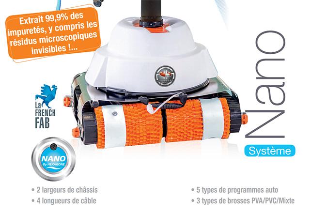 Robot piscine electrique Hexagone NANO VIKING MP3 XL avec telecommande - Robot piscine électrique professionnel Hexagone NANO VIKING MP3  innovation et évolution